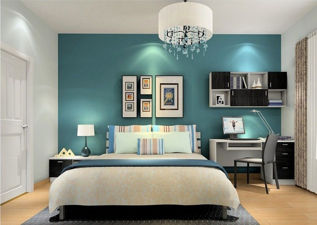 Dark Teal And White Bedroom Design Bedroom Interior Turquoise Room