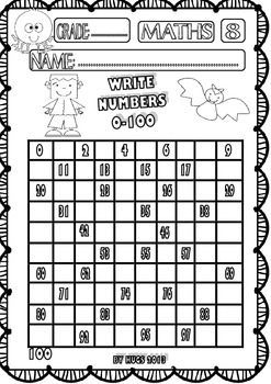 HALLOWEEN MATHS FUNNY WORKSHEETS FOR P-K, K AND 1ST GRADE - SET 1 ...