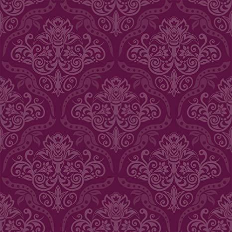 Wallsbyme Peel And Stick Purple Damask Basic Fabric Removable Wallpaper 0186 2ft X 4ft 61x12 Purple Wallpaper Purple Wallpaper Living Room Removable Wallpaper