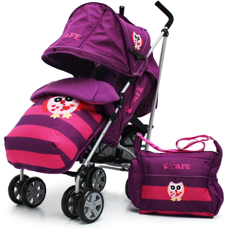 Plum Purple Double Stroller Complete Zeta Citi TWIN Stroller Buggy Pushchair