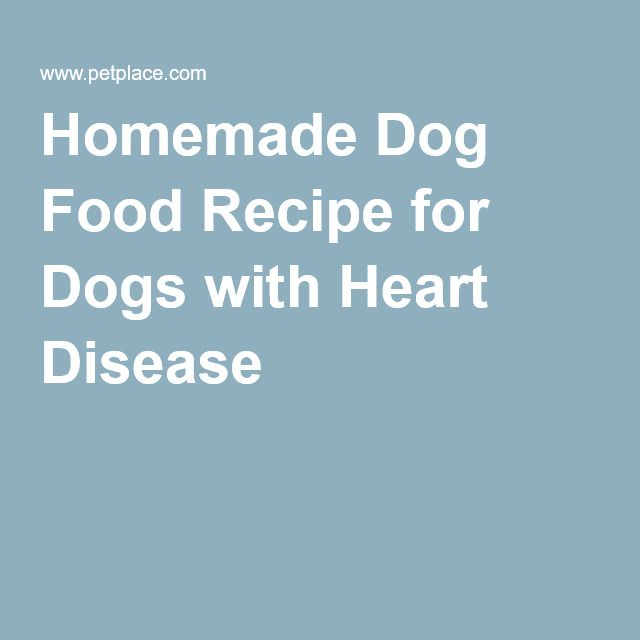 Homemade Dog Food Recipe For Dogs With Heart Disease Dog Food