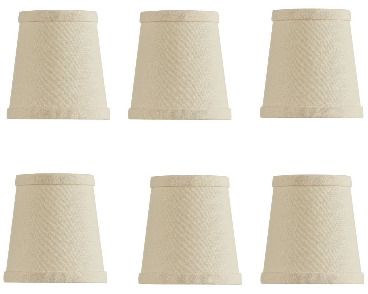 Mini Chandelier Shades Clip On Small Lamp Shade Set Of Six Beige
