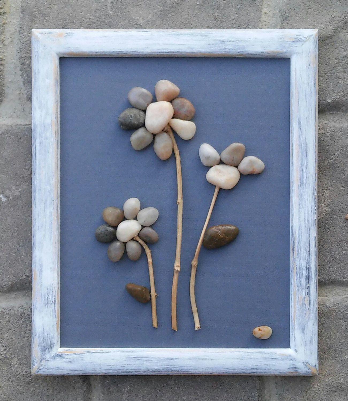 Pebble Art, Rock Art, Pebble Art Flowers, Rock Art Flowers, flower ...