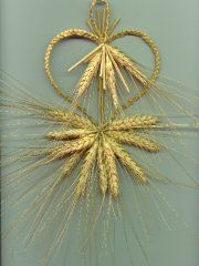 Mordiford Braided Heart Wheat Weaving Corn Dolly Nature Crafts Straw Crafts