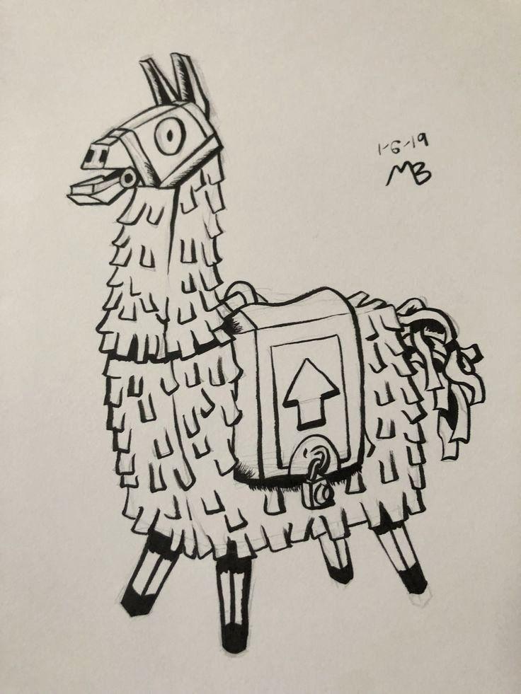 32 fortnite Llama Coloring Page in 2020 Llama drawing