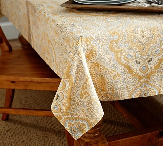 Viola Print Tablecloth | Pottery Barn