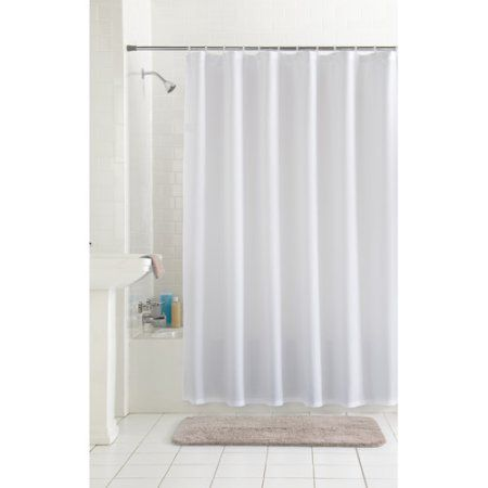 Mainstays Waffle Fabric Shower Curtain Collection White