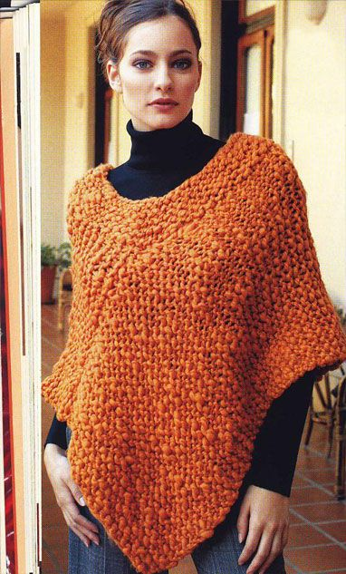 iKnitts: Patron para tejer un poncho fácil | Crochet things I would ...