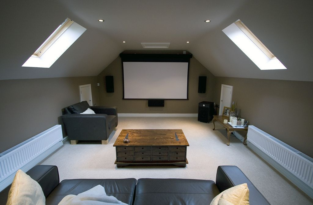 flawless home cinema attic of interior home theater design on attic space in striking attic home. Black Bedroom Furniture Sets. Home Design Ideas