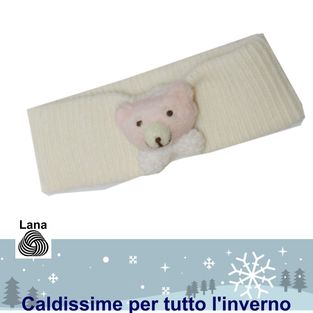Elegante fascia per capelli da neonata in caldo cotone e lana. Morbidissime e calde! – Mafer – Calzinishop.it - kerubino - http://www.calzinishop.it/Catalogo.aspx?Reparto=281