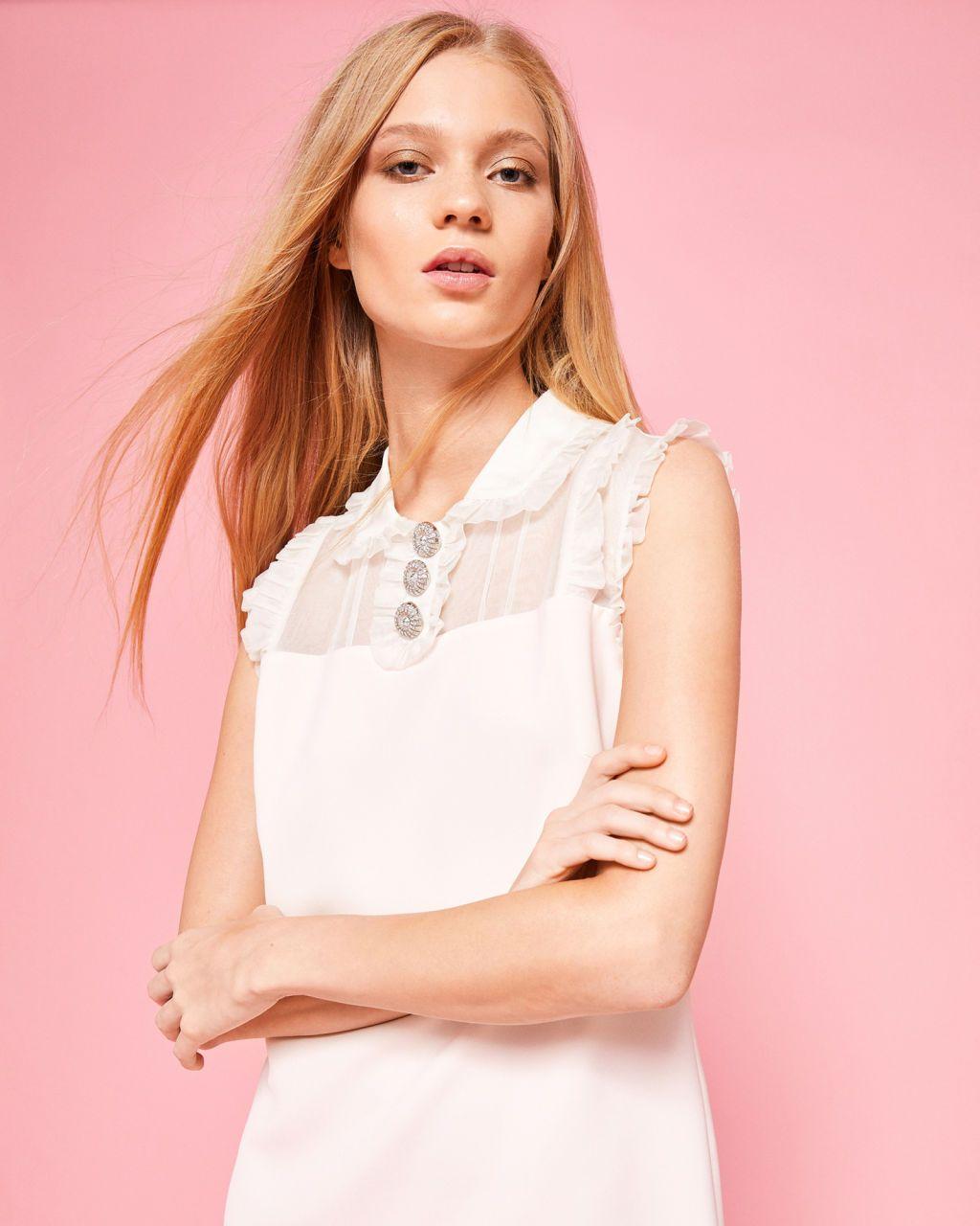 4b6cfcbc857 Frill detail tunic dress - Pink   Dresses   Ted Baker UK   Dresses ...