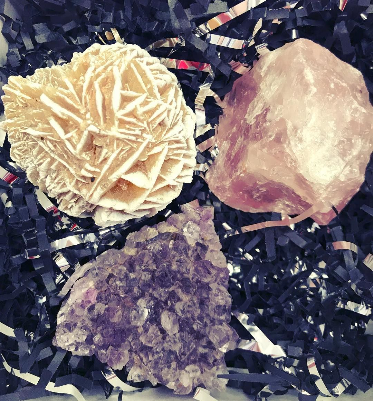 Love box desert rose for selfconfidence rose quartz for