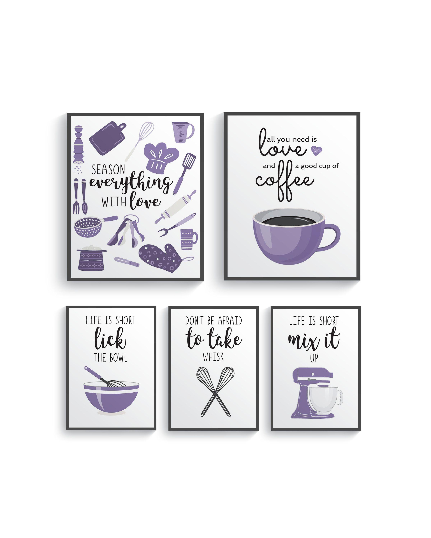 Funny Lavender Light Purple Kitchen Wall Decor, Lavender Kitchen