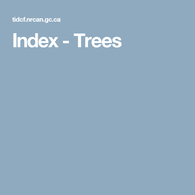 Index - Trees