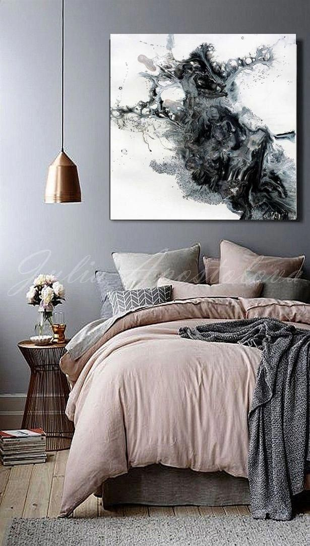 45x45 Black And White Watercolour Painting Etsy In 2021 Bedroom Interior Bedroom Color Schemes Bedroom Design