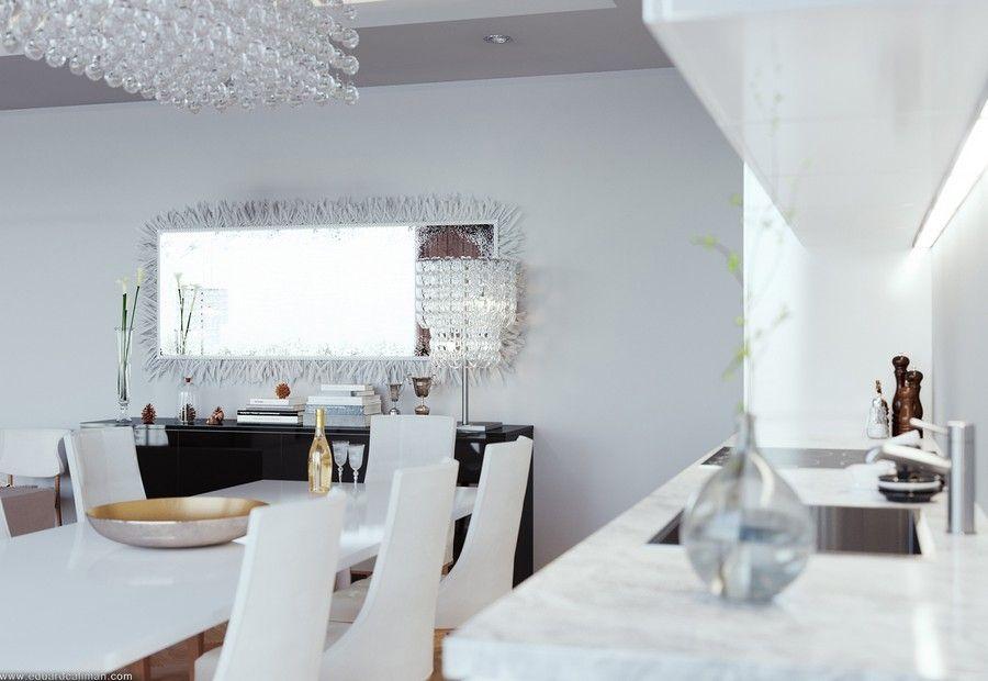 Zeitgenössische moderne Wohnzimmer-Spiegel Technologie 2018 - moderne wohnzimmer beleuchtung
