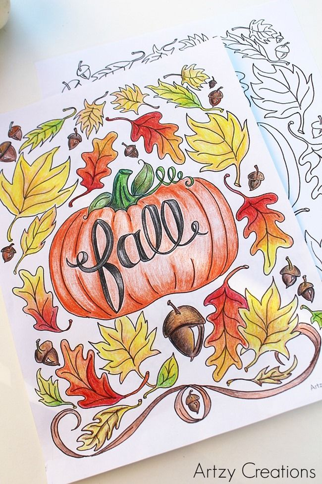 Slobbery image in free printable fall coloring pages for adults