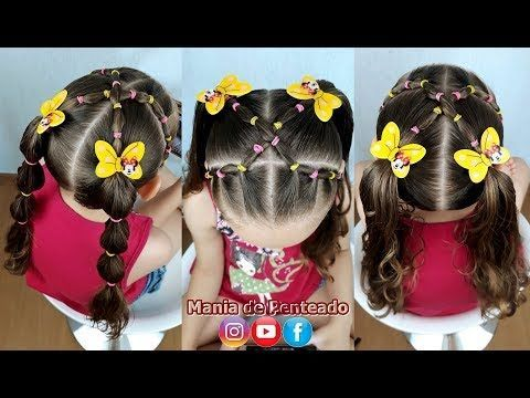 Kids Hairstyle With Garters And Maria Chiquinha Cute Girl Hairstyle Youtube Kids Hairstyles Hair Styles Baby Hairstyles