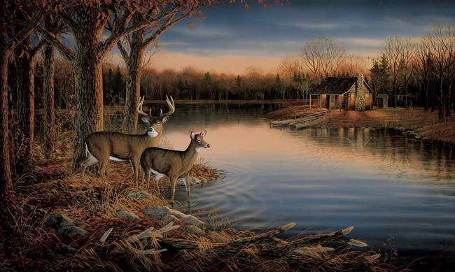 Interior place deer small wall mural for Deer mural wallpaper