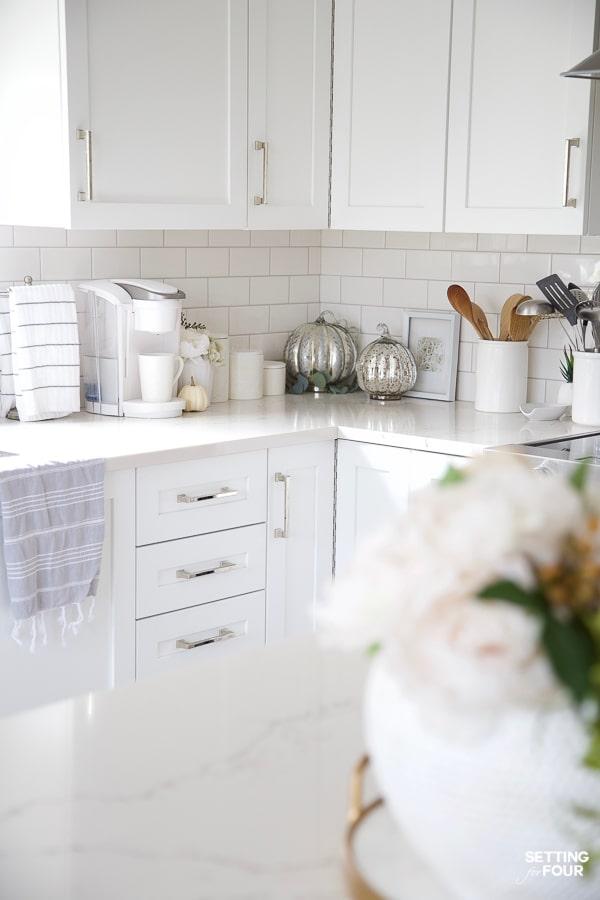 Fall Kitchen Decor Ideas Kitchen Island Countertops And More Kitchen Countertop Decor Countertop Decor Fall Kitchen Decor