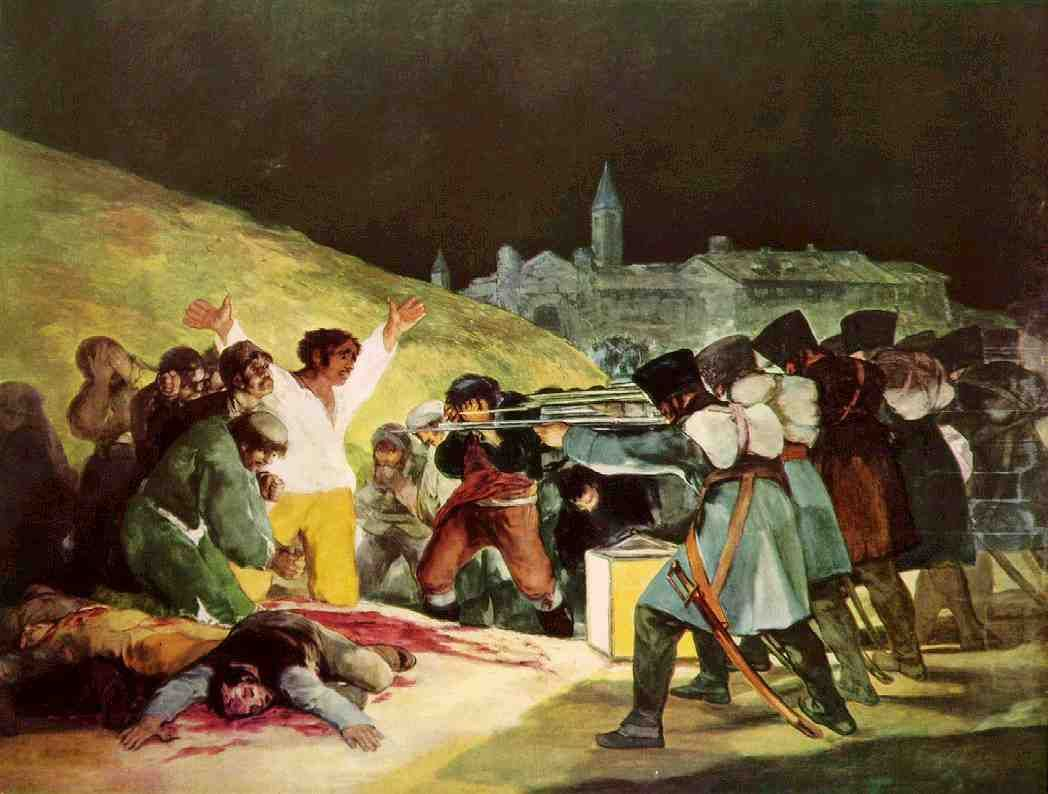 Los Fusilamientos Del 3 De Mayo Goya Buscar Con Google H 1