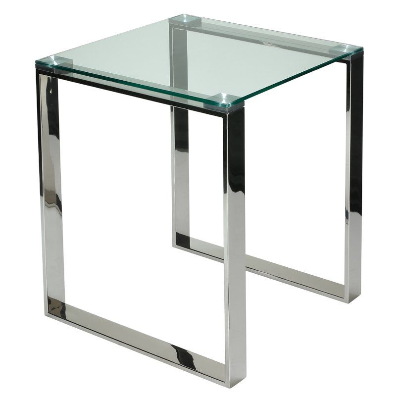 Taft Avenue End Table Glass End Tables Contemporary End Tables