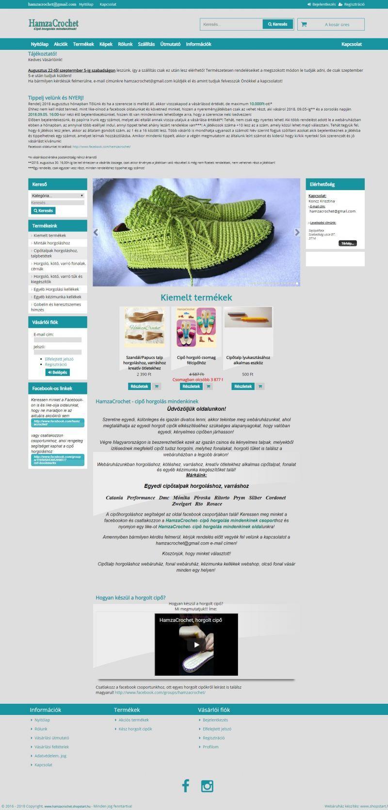 cc9fdd1ad0 HamzaCrochet webáruház | Ha szereti a különleges, egyedi dolgokat, szeret  horgolni, kötni,