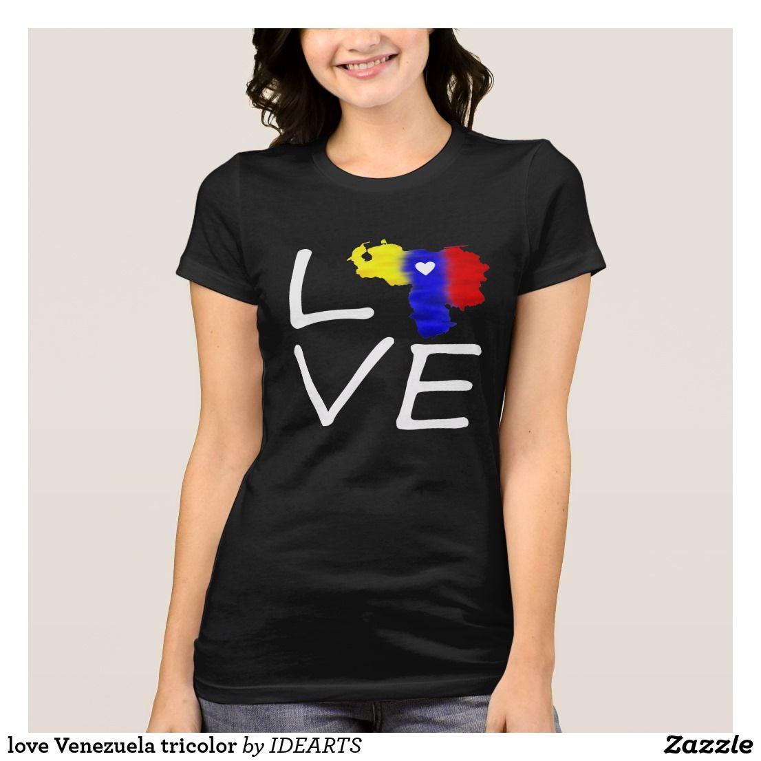 919084d41ad1f Camiseta love Venezuela tricolor