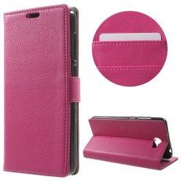 Huawei Y6 II Compact hot pink puhelinlompakko.