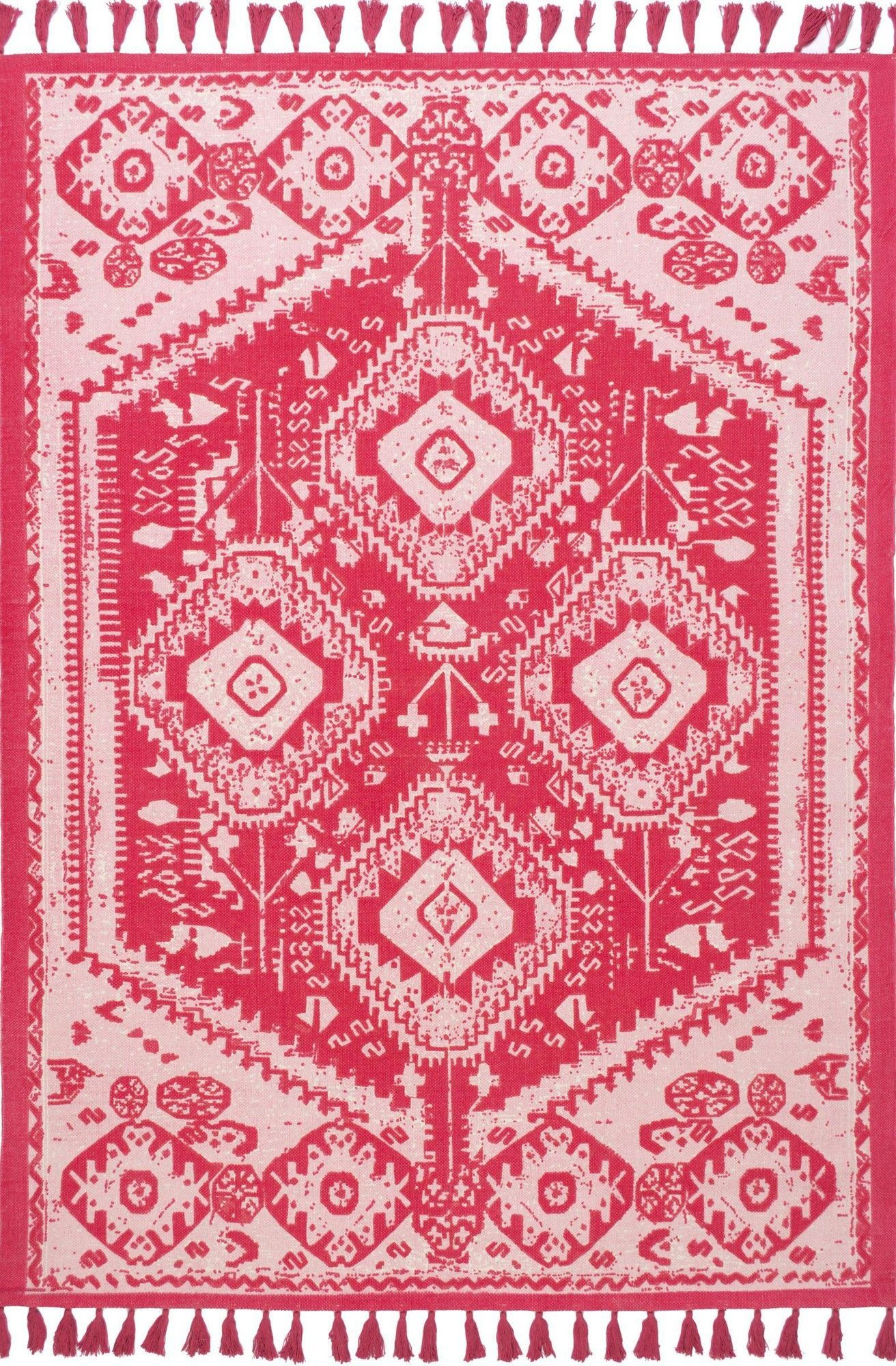 Noreen Hand-Woven Pink Area Rug