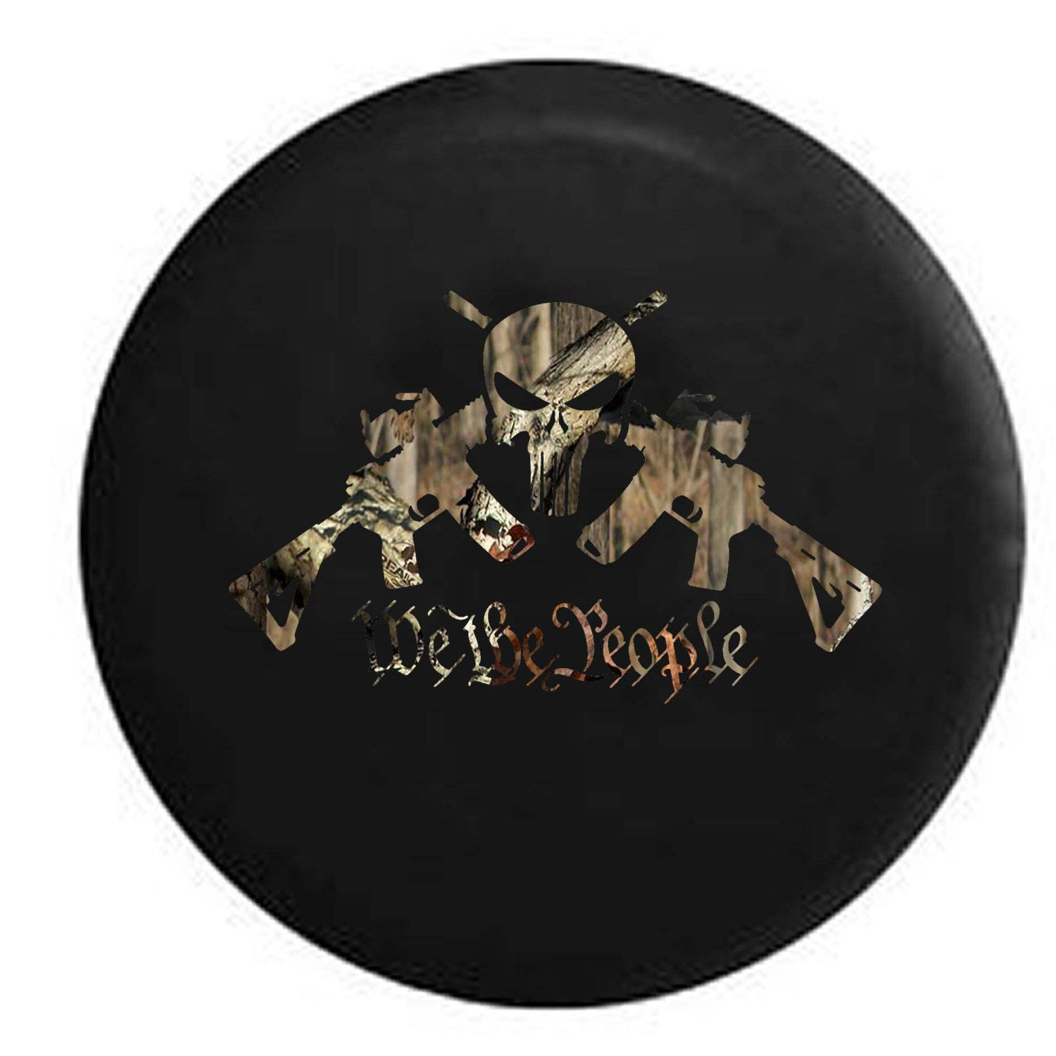 We The People Ar15 Punisher Skull Jeep Camper Spare Tire