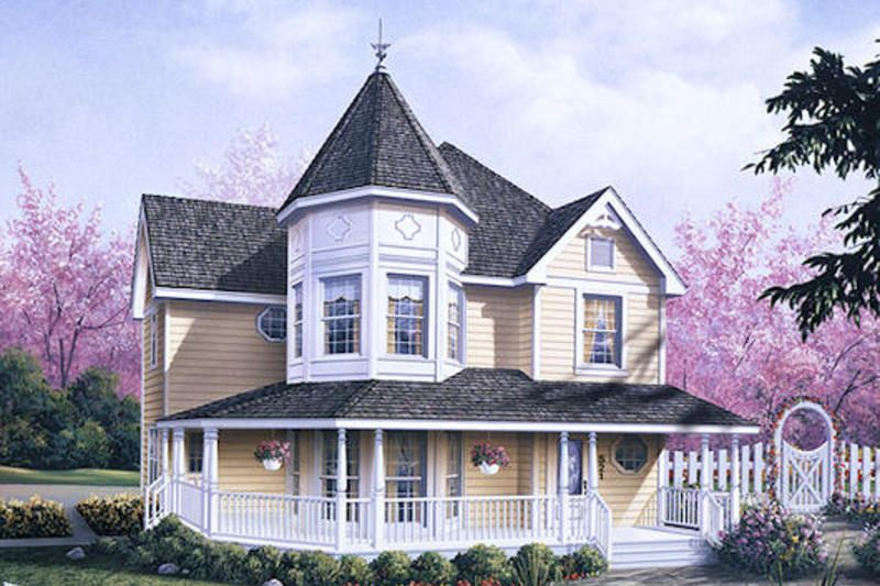 Victorian Style House Plan 3 Beds 2 5 Baths 2050 Sq Ft Plan 57 226 Victorian House Plans Victorian Homes Country Style House Plans