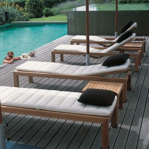 Teak outdoor chaise lounge outdoor chaise lounges nice cushion for diy chair outdoor space pinterest chaises longues chaises et longues