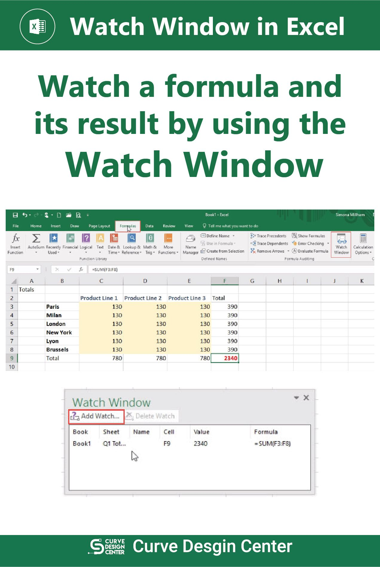 Watch Window In Excel