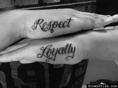 Respect Tattoos For Men Respect Tattoo Loyalty Tattoo Tattoos For Guys