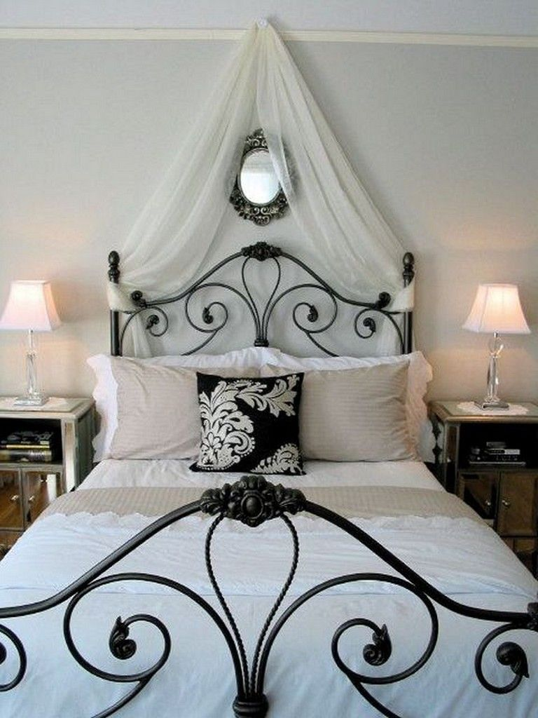 25 Cool Black Wrought Iron Bed Frame Designs Bedroom Paris