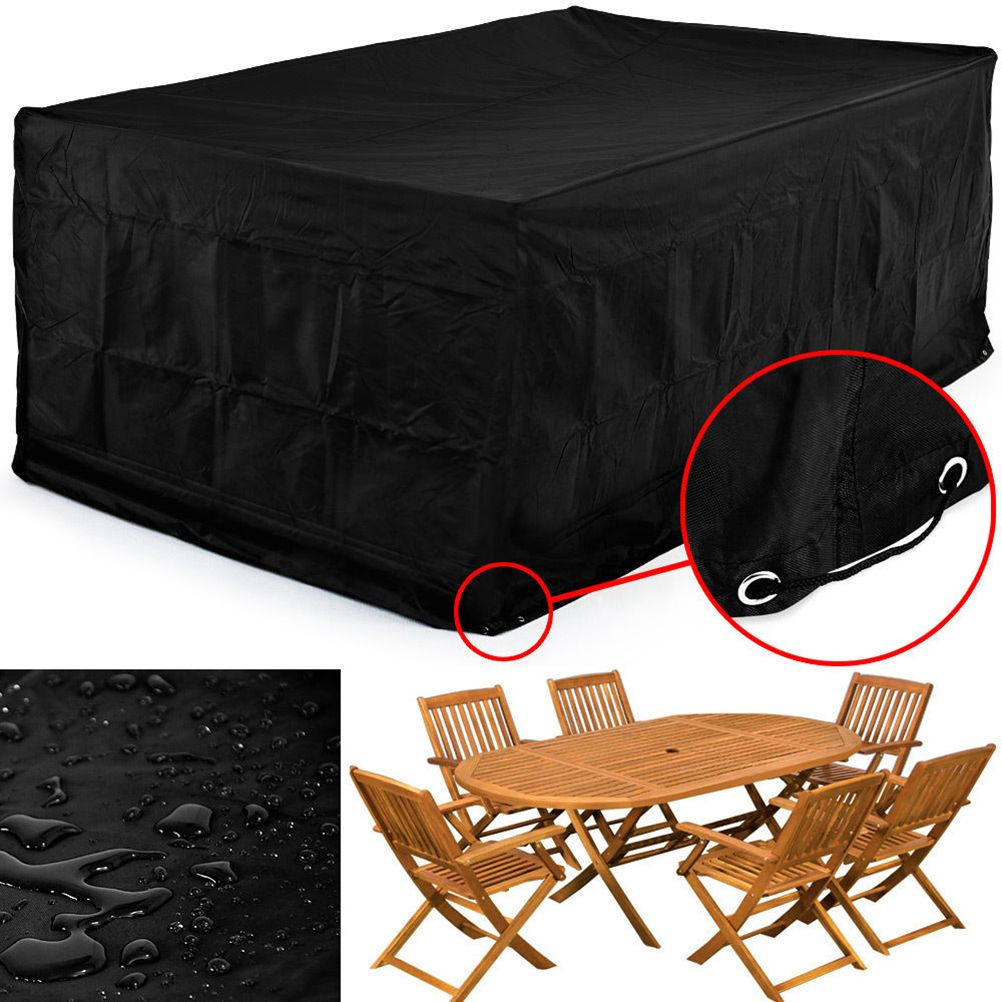 breathable garden furniture covers. 123*123*74CM Waterproof Dustproof Furniture Cover Breathable Garden Rectangular Outdoor Covers S
