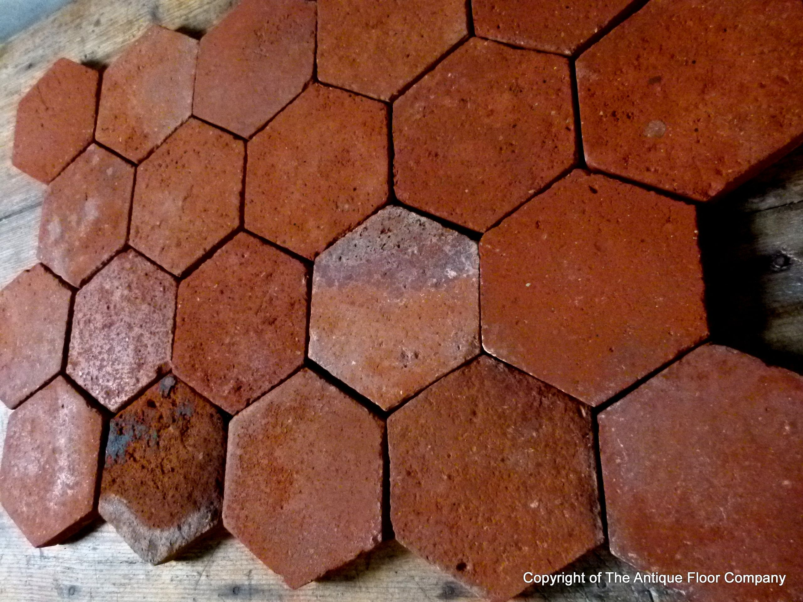 20m2 215 sq ft 19th century french terracotta hexagon tiles the 20m2 215 sq ft 19th century french terracotta hexagon tiles the antique floor company dailygadgetfo Choice Image