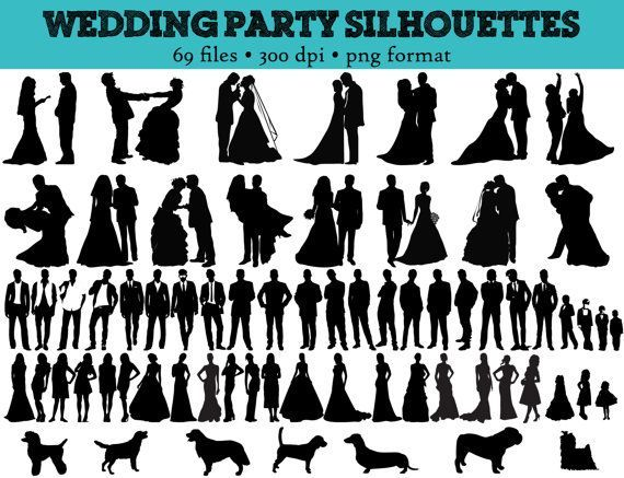 Bridal Party Silhouette Free   69 Wedding Party ...