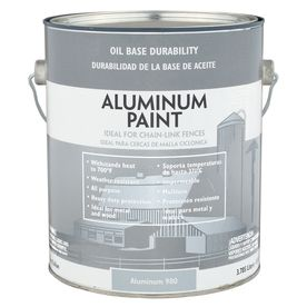 Valspar Heavy Duty Aluminum Satin OilBased Exterior Paint (Actual Net Contents 128Fl Oz) 009 0000980 007