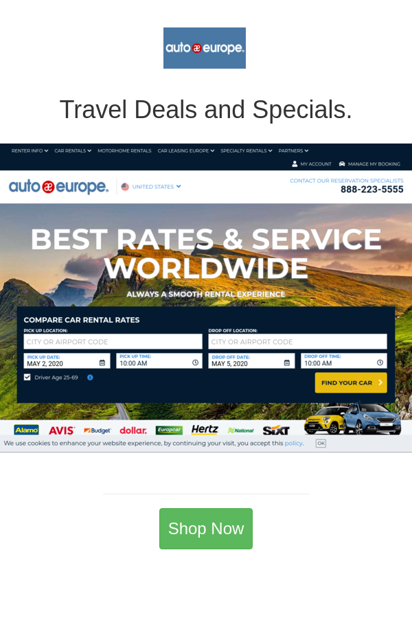 Best Deals And Coupons For Auto Europe In 2020 Travel Deals Motorhome Rentals Europe