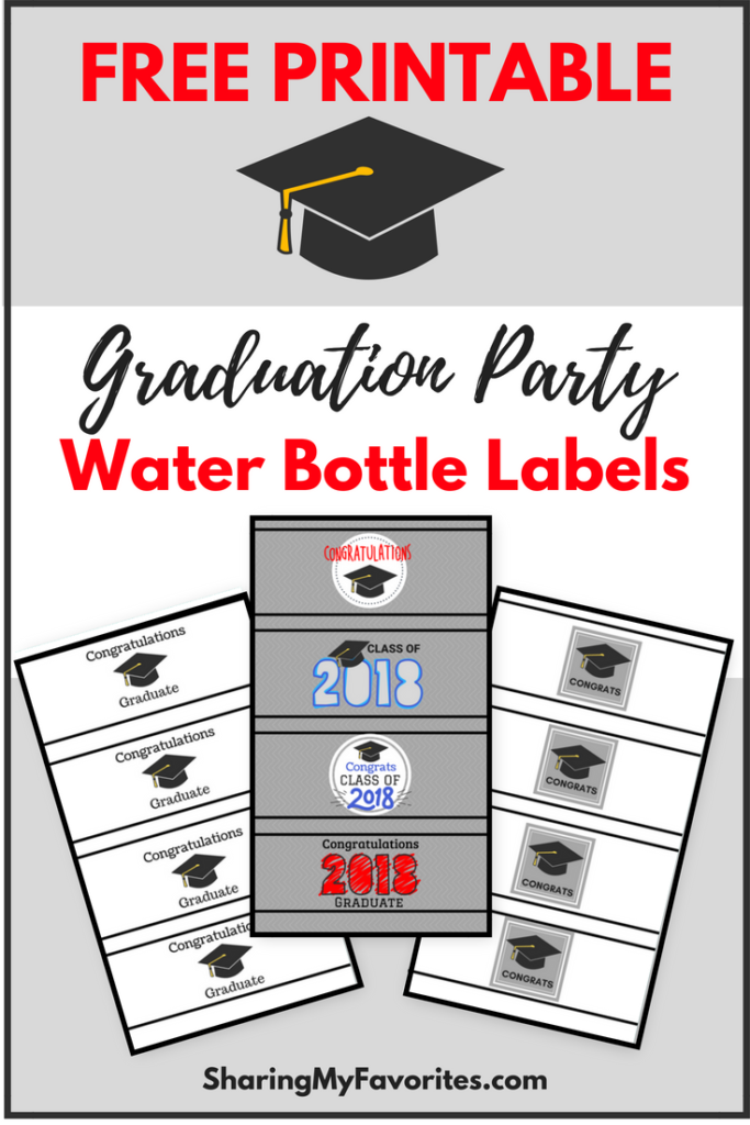 free printable graduation party water bottle labels