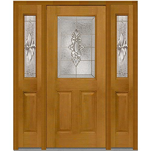 National Door Z014750r Fiberglass In Swing Entry Door Right Hand Prehung Heirloom Master Decorative Glass 1 2 Prehung Doors Mahogany Exterior Doors Mmi Door