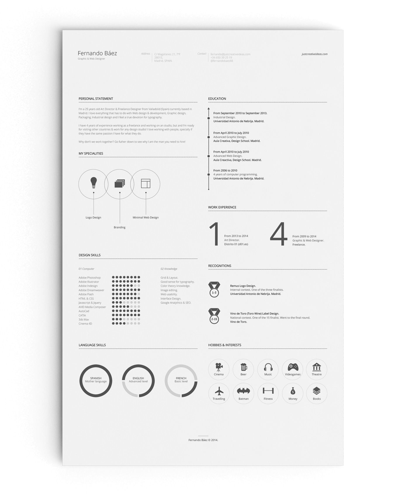 FREE Resume Template on Behance in 2020 Downloadable
