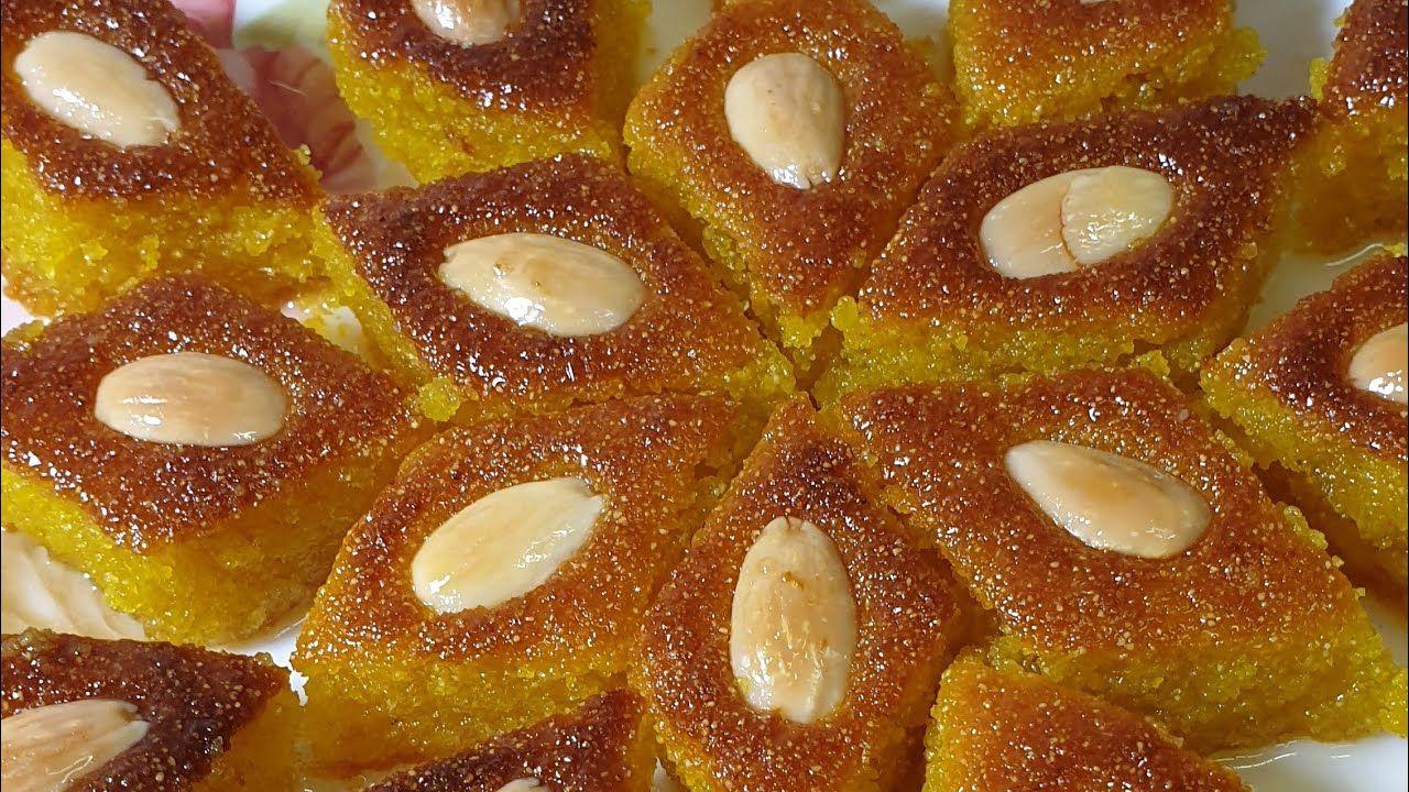 طريقة عمل الهريسه الفلسطينيه بكل سهوله لامعه ناجحه Youtube Dessert Recipes Desserts Arabic Food