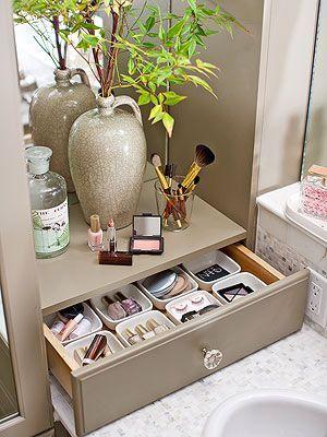 Exceptional Beautiful 15 Minute Bathroom Organization Tips. Bathroom Storage FurnitureBathroom  Countertop ...