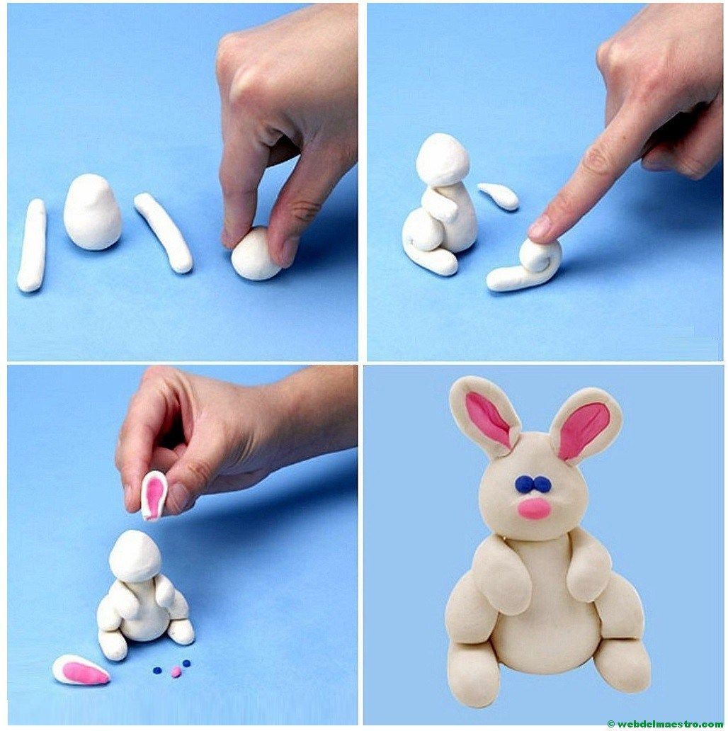 Conejo de plastilina plastilina pinterest tutorials - Como hacer figuras con chuches ...