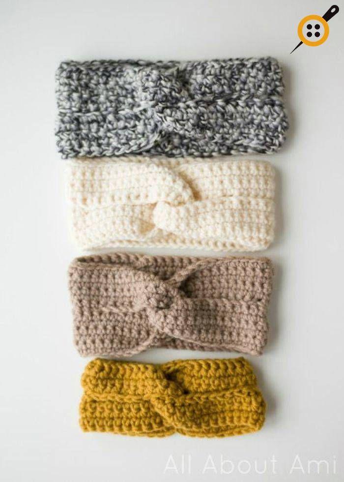 Örgü Bandana Modelleri - 75 Adet En Güzel Örme Bandana Modelleri #crochetedheadbands