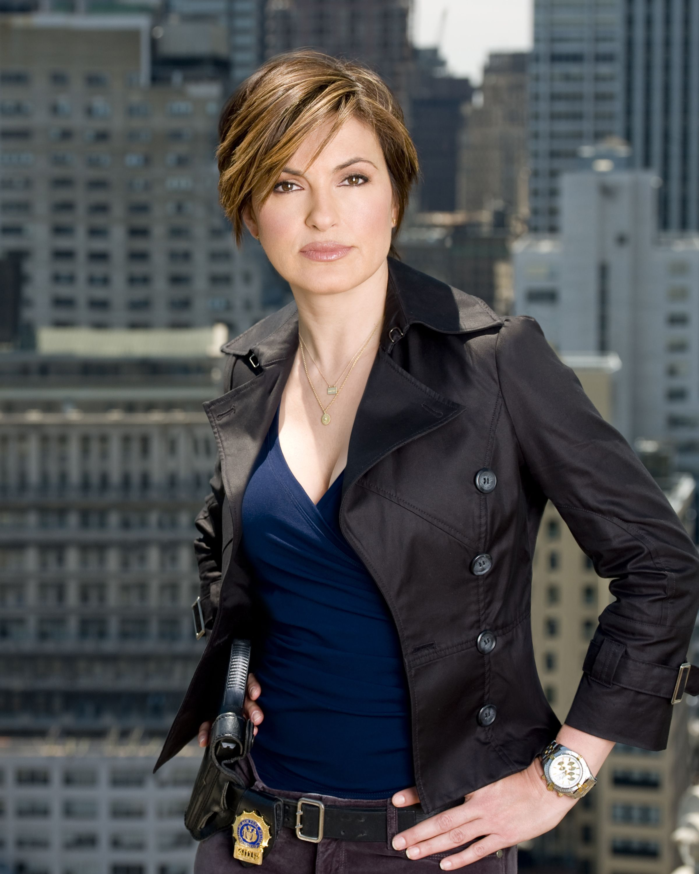 Law Order Special Victims Unit Season 9 Olivia Benson Mariska Hargitay Trendy Short Haircuts Mariska Hargitay Female Cop