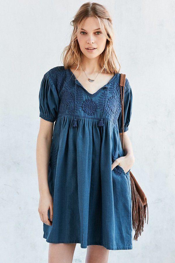 c864c26c22 Carolina K Marganta Embroidered Yoke Babydoll Dress   I gotta have ...